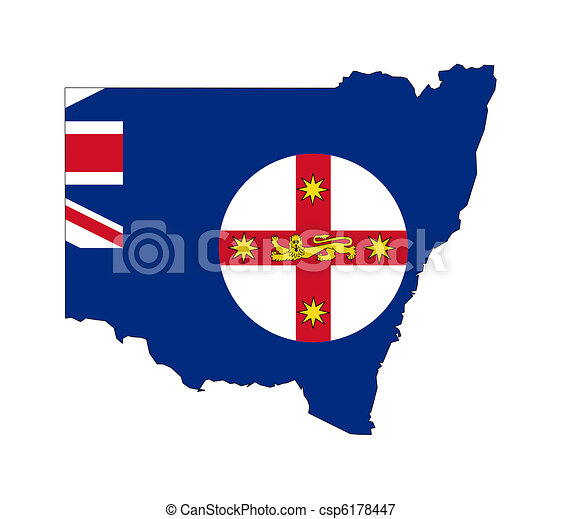 Stock Illustrations of New South Wales Australia - State flag of ...