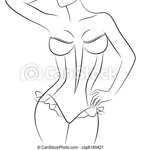 Vector beautiful sexy woman - csp6180421
