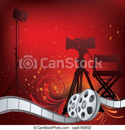movie theme illustration - csp6180652