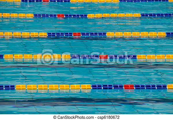 stock photo of sports pool particular lane of an olympic