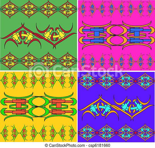 Set of east ornaments, the Asian culture - csp6181660