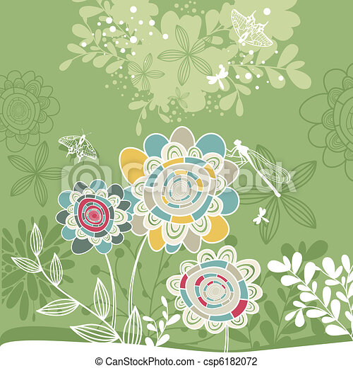 lovely floral card - csp6182072