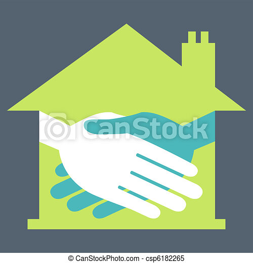 Property or real estate handshake. - csp6182265