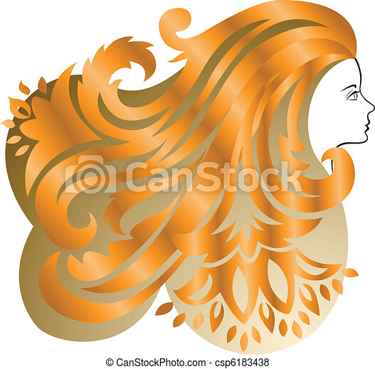Red-haired girl - csp6183438