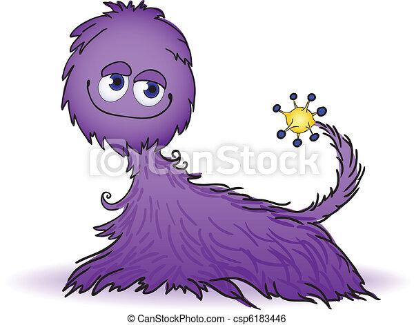 Purple furry creature - csp6183446