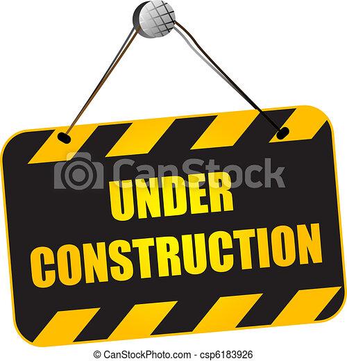 Under construction sign - csp6183926