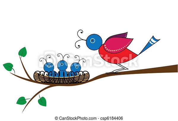 bird and nestlings - csp6184406