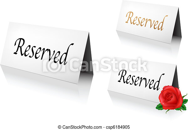 Reserved Sign - csp6184905