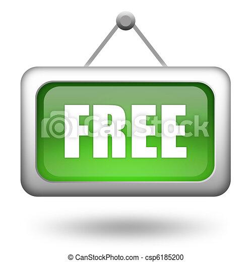 Free sign - csp6185200