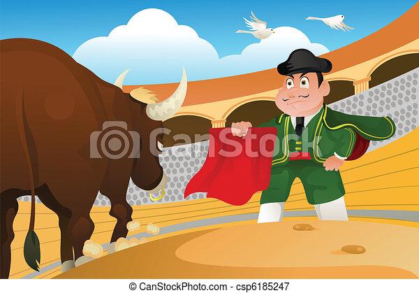 Matador and a bull - csp6185247