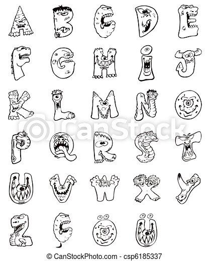 Archivio illustrazioni di animali lettere creato - Lettere animali da stampare ...