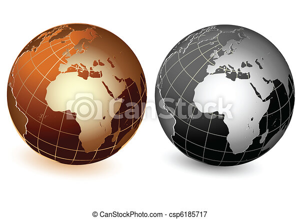 World global planet earth icon - csp6185717