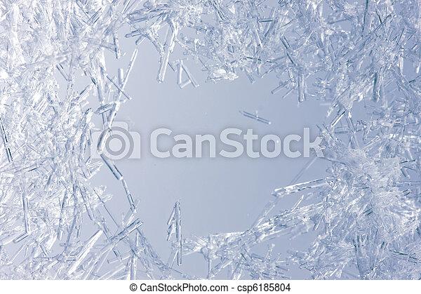 Closeup of ice crystals - csp6185804
