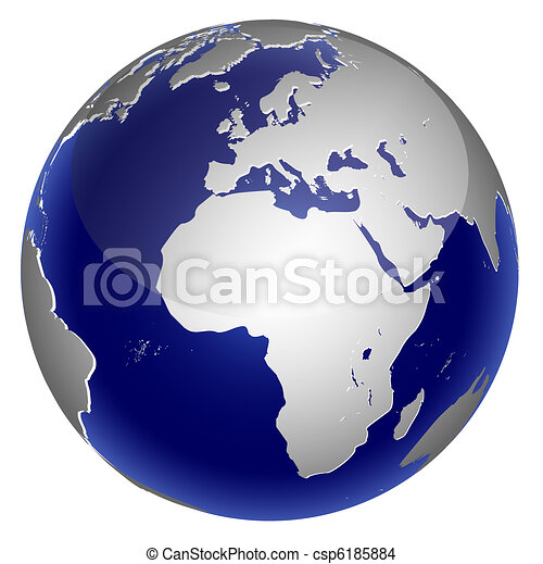 World global planet earth icon - csp6185884