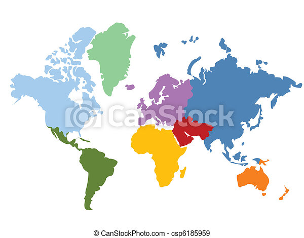 world map - csp6185959