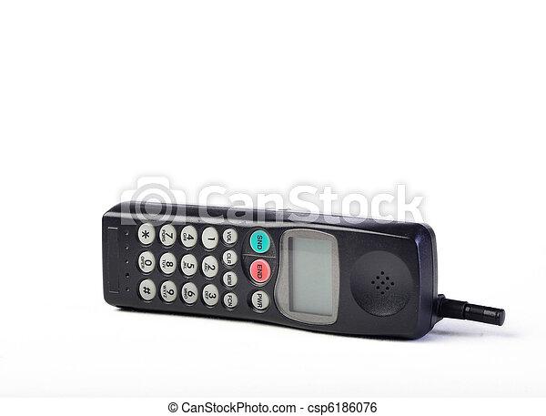Vintage telephone on white - csp6186076