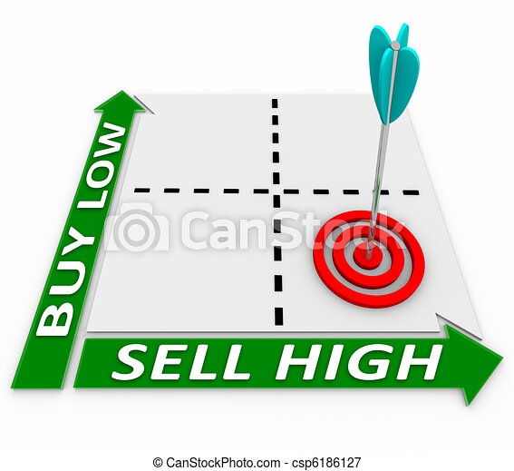 Buy Low, Sell High - Principles of Investment Growth - csp6186127