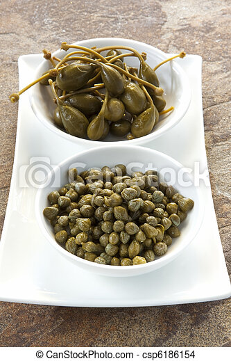 Capers and Caper Berries - csp6186154