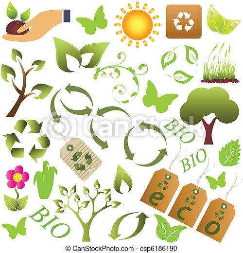 Eco and environment symbols - csp6186190