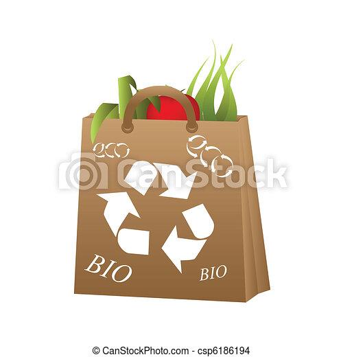 Organic and bio food - csp6186194