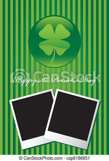 Happy St Patrick's Day card vector - csp6186651
