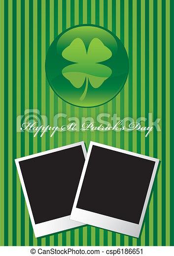 Happy St Patrick's Day card vector  - csp6186651