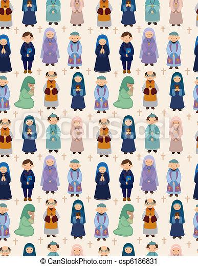 seamless priest pattern - csp6186831