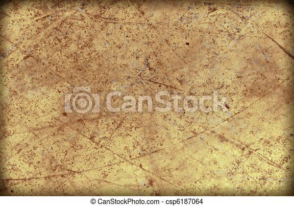 old paper, grunge background , parchment, papyrus, manuscript - csp6187064