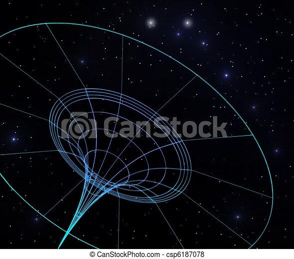 Stock Illustration of spacetime bending - llustration of ...