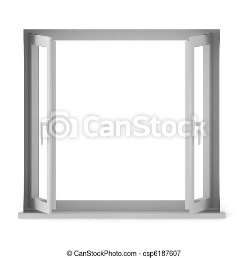 3d render of opened window - csp6187607