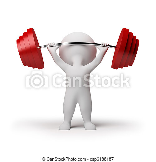 3d small people - weightlifting - csp6188187
