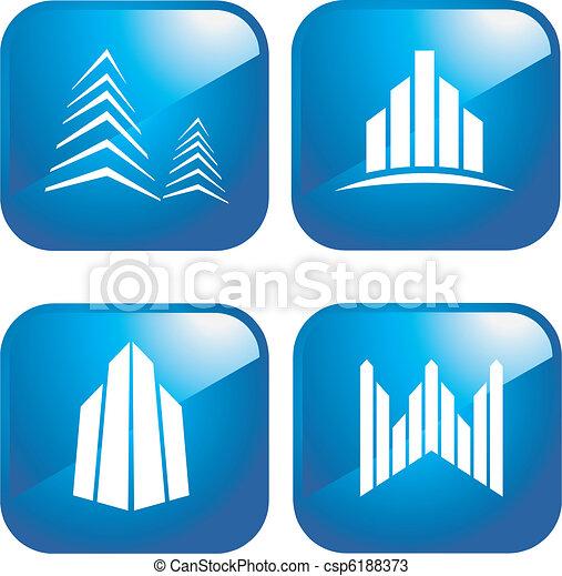 Building icons - csp6188373