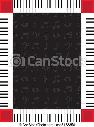 Piano Border - csp6188856