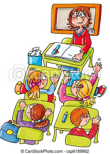 Clipart Teacher Desk