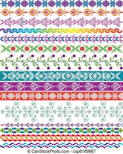 vector colorful decorative borders - csp6189987