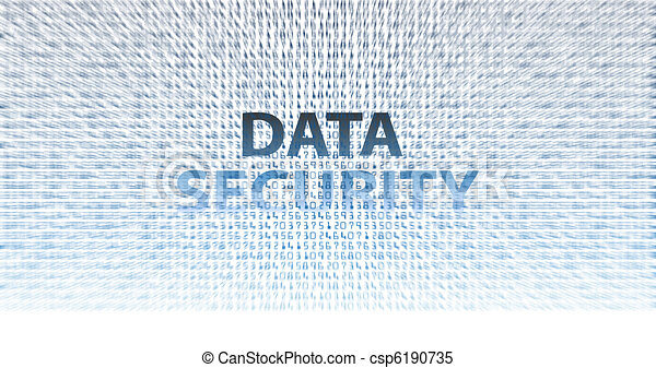 DATA SECURITY digital information technology issues - csp6190735