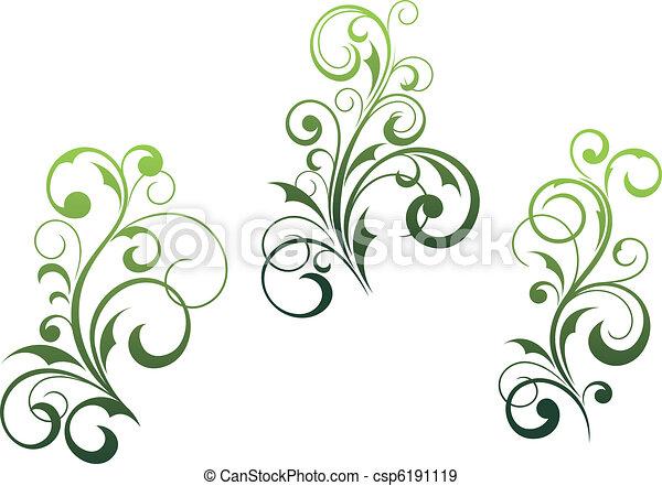 Floral elements and motifs - csp6191119