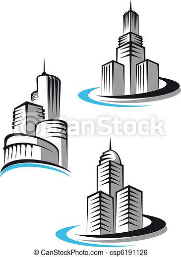 Skyscrapers symbols - csp6191126