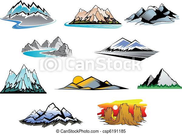 Mountain peaks - csp6191185