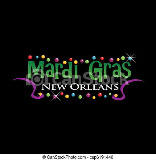 mardi gras sign - csp6191440
