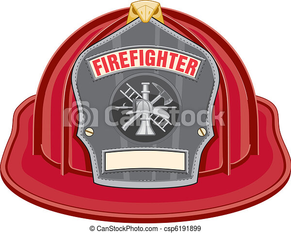 Firefighter Helmet Red - csp6191899