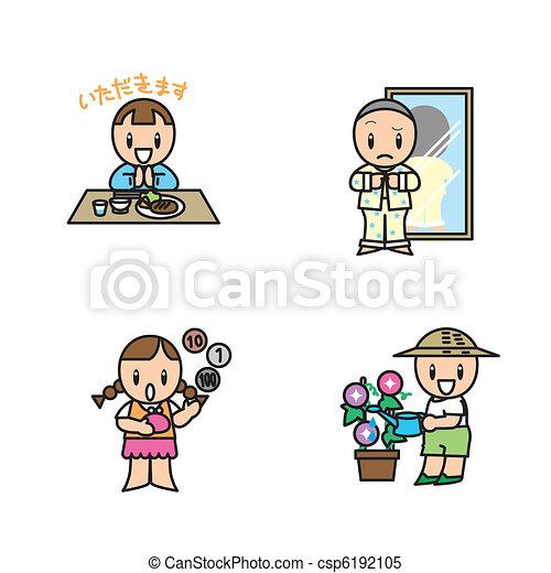 child illust set - csp6192105