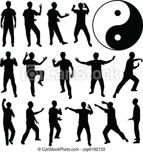 Martial Art Kung Fu Self Defense - csp6192133
