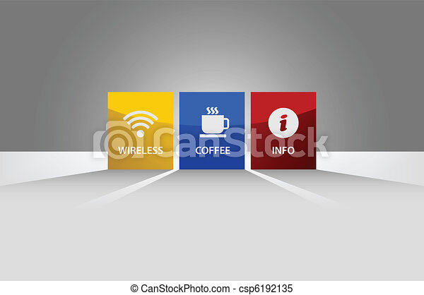 Tag Label Shadow Lighting Banner - csp6192135