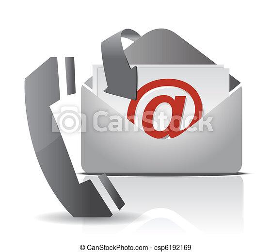contact us illustration design - csp6192169