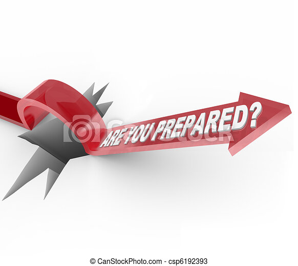 Are You Prepared - Arrow Jumps Over Hole - csp6192393