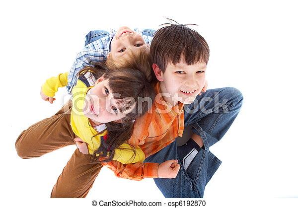 crianças, feliz - csp6192870