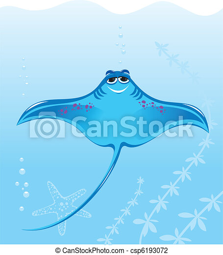 Cartoon marine stingray - csp6193072