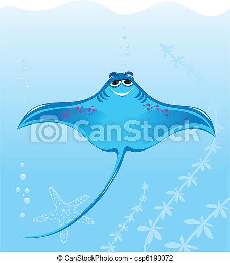Cartoon marine stingray - csp6193072