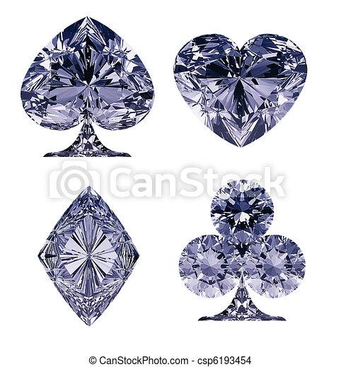 Blue Diamond Shaped Logo Blue Diamond Shaped Card Suits